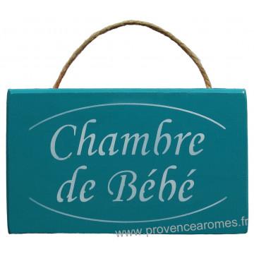 Plaque En Bois Chambre De Bebe Fond Vert Celadon Provence Aromes Tendance Sud