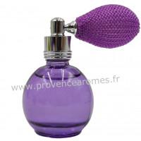 Eau de toilette VIOLETTE 12 ml flacon rétro avec poire Esprit Provence