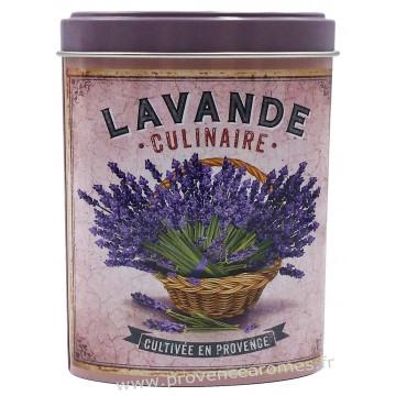 Lavande alimentaire de Provence Boîte saupoudreur déco rétro Esprit Provence