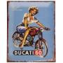 Plaque métal DUCATI 60 25 x 20 cm déco rétro vintage