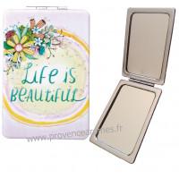 Miroir de poche Life is Beautiful ALLEN DESIGNS