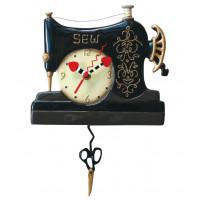 Horloge Machine à coudre rétro à balancier déco vintage designs Allen