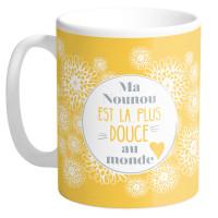 Mug MA NOUNOU EST LA PLUS DOUCE DU MONDE collection Mugs petits messages