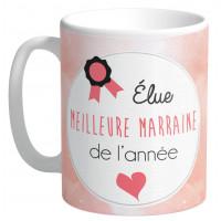 Mug Élue MEILLEUR MARRAINE DE L'ANNÉE collection Mugs petits messages