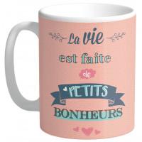 Mug LA VIE EST FAITE DE PETITS BONHEURS collection Mugs petits messages