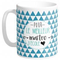 Mug POUR LE MEILLEUR MAÎTRE D'ÉCOLE collection Mugs petits messages