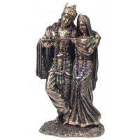 Statuette RADHA & KRISHNA 29 cm effet bronze