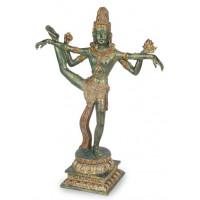 Statuette SHIVA debout 40 cm effet bronze