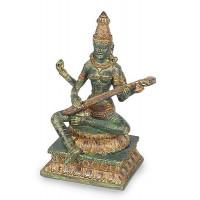 Statuette SARASWATI 24 cm effet bronze