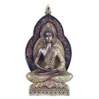 Statuette BOUDDHA THAÏ 22 cm méditation Dhyana Mudra