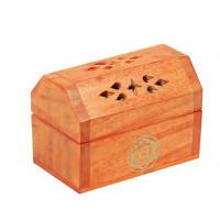Boîte brûle encens Cônes en bois couleur Orange