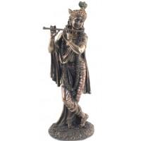 Statuette KRISHNA 25 cm effet bronze