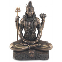 Statuette SHIVA 21 cm effet bronze