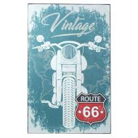 Panneau en bois moto Route 66 déco rétro Vintage