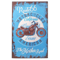 Panneau en bois moto Route 66 The Mother Road déco rétro Vintage