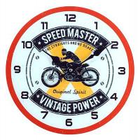 Horloge en verre Moto SPEED MASTER VINTAGE POWER 30 cm