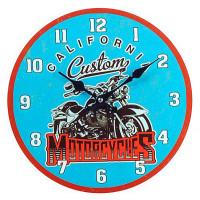 Horloge en verre Motorcycles CALIFORNIA CUSTOM 30 cm
