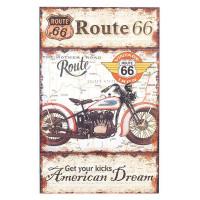Panneau en bois moto Route 66 American Dream déco rétro Vintage