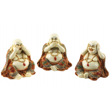 3 Statuettes Bouddha de la sagesse 7 cm
