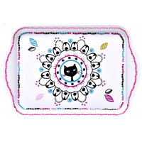 Petit Plateau 21 cm CHAT MANDALA Foxtrot collection