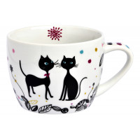 Maxi tasse à déjeuner CHAT MANDALA Foxtrot collection