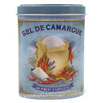 Sel de Camargue au piment d'Espelette Boîte saupoudreur déco rétro Esprit Provence