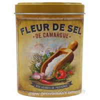 Fleur de Sel de Camargue aux Herbes de Provence Boîte saupoudreur déco rétro Esprit Provence