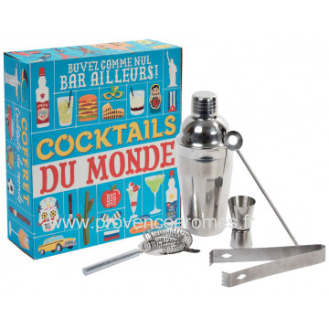 Coffret COCKTAILS DU MONDE Natives déco rétro vintage