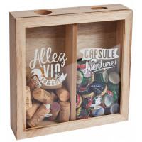 Boîte à bouchons et capsules Natives déco rétro vintage