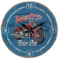 Horloge MOTORCYCLES RIDERS CLUB déco rétro vintage