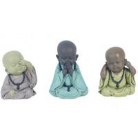 3 Statuettes Petits Moines de la sagesse 11 cm