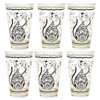 Coffret 6 Verres CHAT MANDALA Foxtrot collection