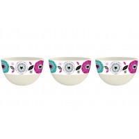 Set de 3 coupelles bambou CHAT MANDALA Foxtrot collection
