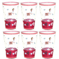 Coffret de 6 Verres LAMA MANIA Foxtrot collection