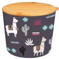 Pot avec couvercle D12 en bambou LAMA MANIA Foxtrot collection