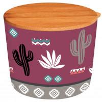 Pot avec couvercle D10 cm en bambou LAMA MANIA Foxtrot collection