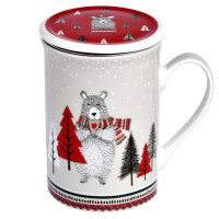 Mug avec passoire et couvercle ours Foxtrot collection