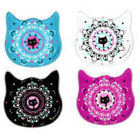 Set de 4 dessous de verre CHAT MANDALA Foxtrot collection
