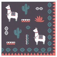 Serviettes en papier LAMA MANIA Foxtrot collection