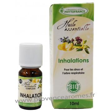 INHALATIONS Huiles Essentielles complexe BIO pour les sinus et arbre respiratoire Phytofrance