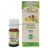 PURETÉ et TONUS Huiles Essentielles complexe BIO pour digestion et fatigue Phytofrance