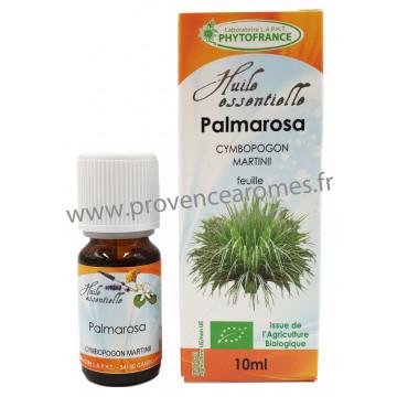 PALMAROSA Huile Essentielle BIO Phytofrance 10 ml