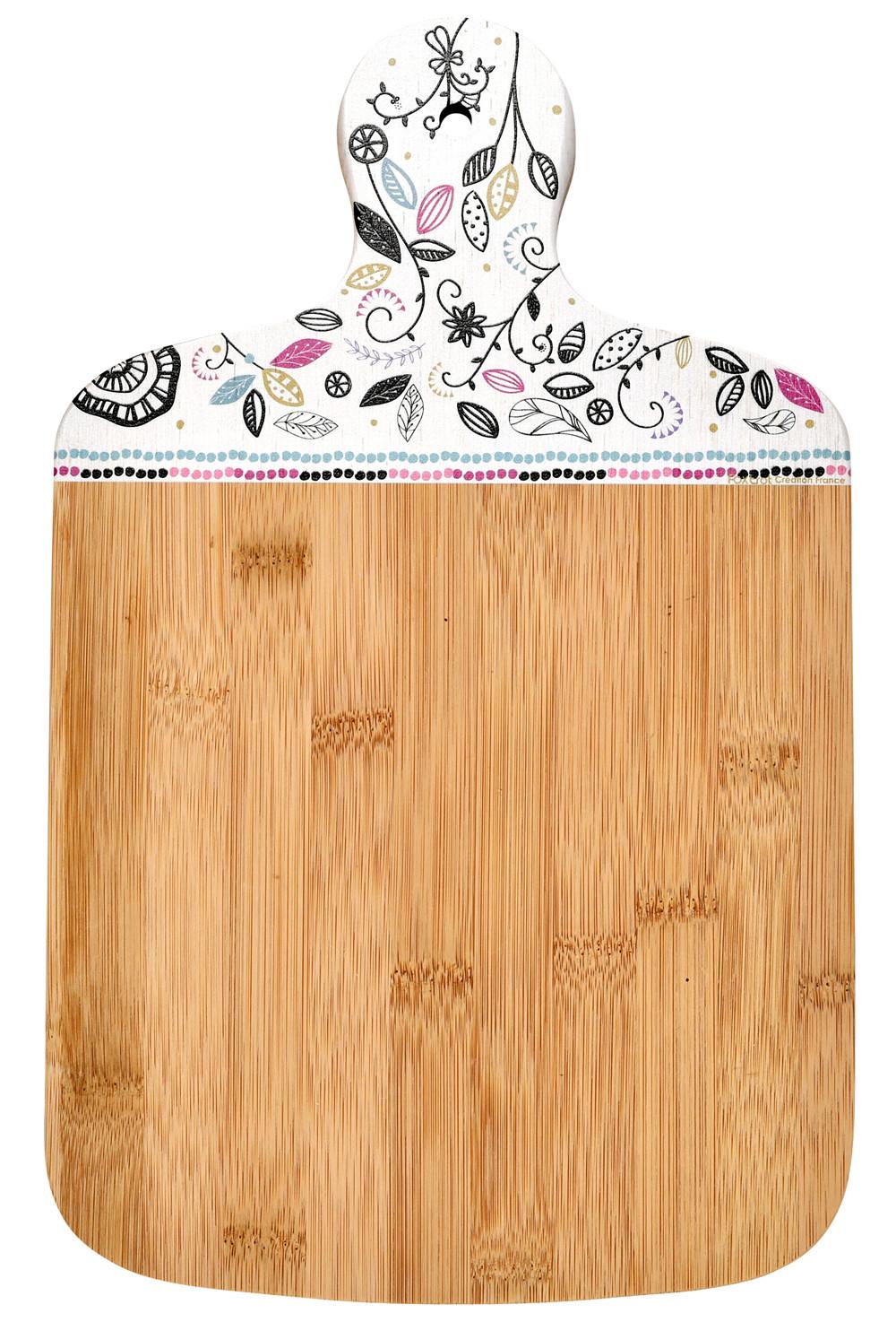Planche À Découper Humoristique planche à découper bambou chat mandala foxtrot collection - provence arômes  tendance sud