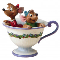 JAQ et GUS dans la tasse Figurine Disney Collection Disney Tradition