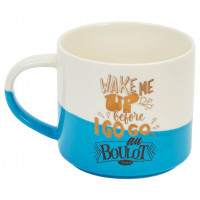 Mug WAKE ME UP Natives déco rétro vintage