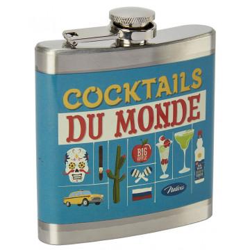 Flasque COCKTAILS DU MONDE Natives déco rétro vintage