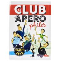 Grande Plaque métal LE CLUB DES APÉROPHILES Natives déco rétro vintage