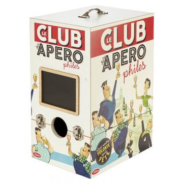 Cache Cubi LE CLUB DES APÉROPHILES Natives déco rétro vintage