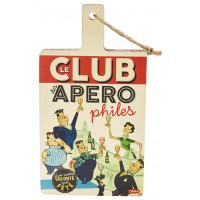 Planche à découper LE CLUB DES APÉROPHILES Natives déco rétro vintage