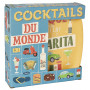 Coffret de 6 assiettes à cocktail en bambou COCKTAILS DU MONDE Natives déco rétro vintage